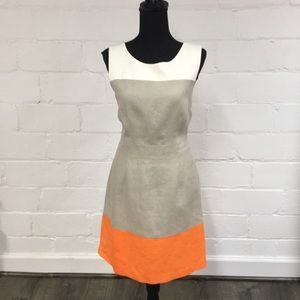 Banana Republic Factory Color Blocked Linen Dress
